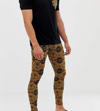 Asos Design DESIGN mix & match meggings in baroque print