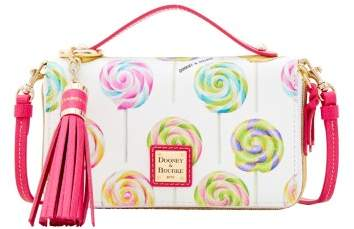 Dooney & Bourke Swirl Lollipop Willis Clutch Sammi Tassel Wallet - WHITE - STYLE
