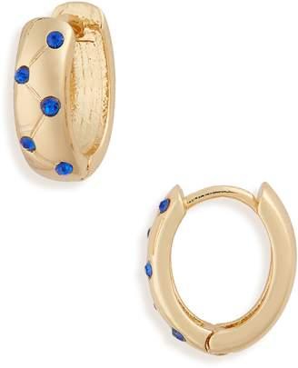 Treasure & Bond Crystal Inlay Huggie Earrings
