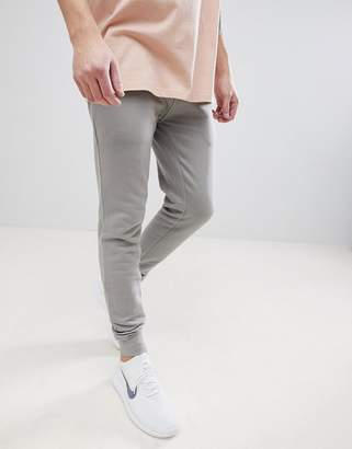 Asos Design DESIGN Super Skinny Joggers In Light Grey