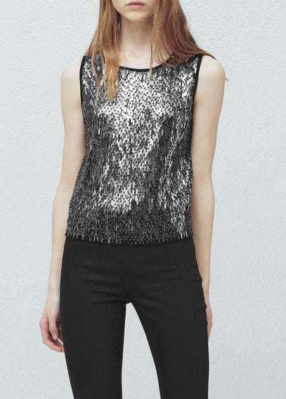 Mango Outlet MANGO OUTLET Sequin Embroidery Top