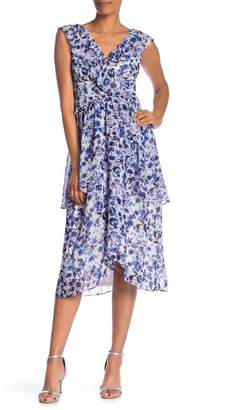Rachel Roy Floral Layered Woven Dress