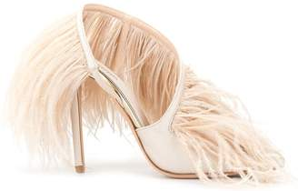 Giambattista Valli feather embellished sandals