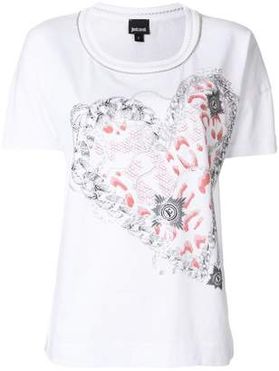 Just Cavalli heart print T-shirt