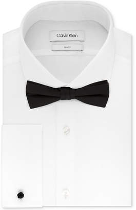 Calvin Klein Men Slim-Fit Solid French Cuff Dress Shirt & Pre-Tied Bow Tie Set