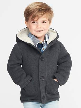 Old Navy Button-Front Sweater-Fleece Hooded Coat for Toddler Boys