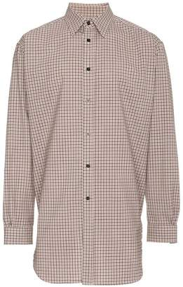 Raf Simons Elasticated Back Check Shirt