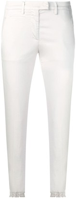 Dondup white skinny trousers