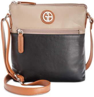 Giani Bernini Colorblock Nappa Leather Crossbody, Created for Macy's