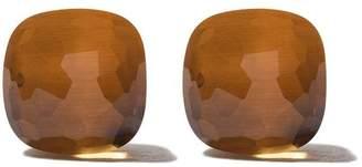 Pomellato 18kt rose & white gold Nudo orange quartz stud earrings