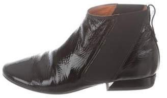 Lanvin Patent Leather Ankle Boots Black Patent Leather Ankle Boots