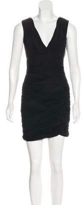 Halston Pleated Mini Dress