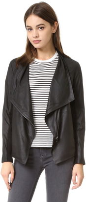 BB Dakota Kenrick Soft Leather Jacket $350 thestylecure.com