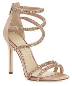 Jessica Simpson Jamalee Multi-Strap Satin Stiletto Sandals