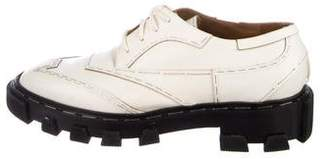 Balenciaga Staple-Trimmed Derby Oxfords