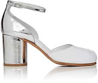 Maison Margiela Women's Tabi Leather Ankle-Strap Sandals $795 thestylecure.com