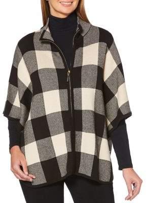 Rafaella Petite Checked Mockneck Sweater