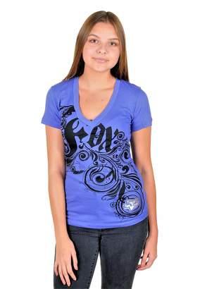 Fox Racing Women V-Neck Short Sleeve Cotton T-Shirt XS