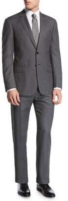 Giorgio Armani Birdseye Super 160s Wool Two-Piece Suit, Gray
