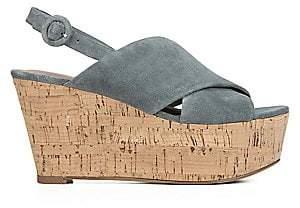 Diane von Furstenberg Women's Juno Suede Wedge Sandals