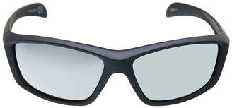 Xersion Matte Wrap Around Sunglasses with Gun Metal Mirrored Lens