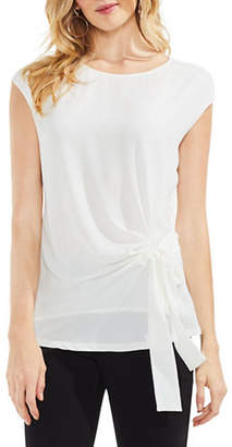 Vince Camuto Textured Mix Media Top