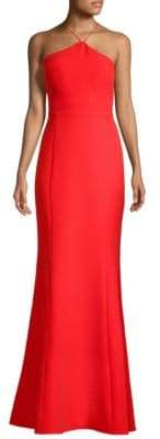 Laundry by Shelli Segal Tie Back Gown