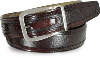 Moreschi Lione Burgundy Peccary and Leather Belt