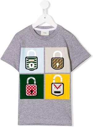 Fendi padlock print T-shirt