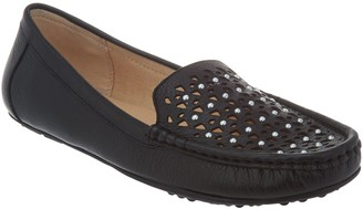Isaac Mizrahi Live! Leather Studded Moccasins
