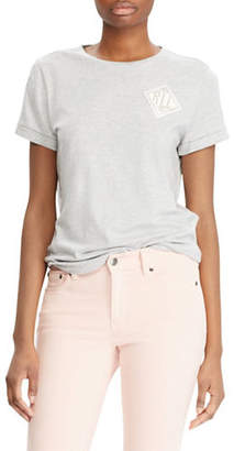 Lauren Ralph Lauren Petite Petite Embroidered Bullion Tee