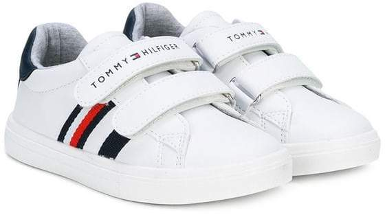 Tommy Hilfiger Junior branded touch-strap sneakers