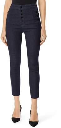 J Brand Natasha Sky High Crop Skinny Jeans
