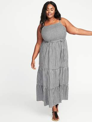 Old Navy Tie-Belt Plus-Size Gingham Maxi Dress