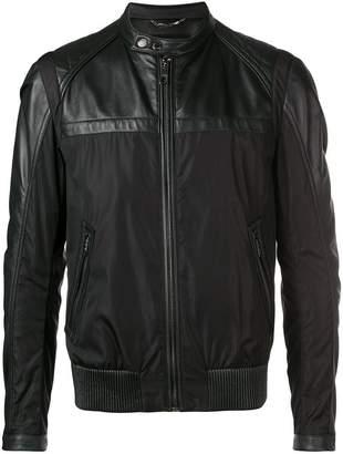 Dolce & Gabbana leather-panelled jacket