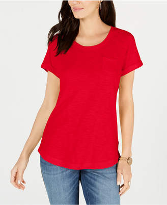 Style&Co. Style & Co Cotton Crew-Neck T-Shirt