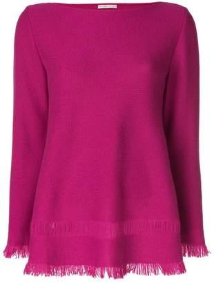 Borgo Asolo flared fringe-hem sweater