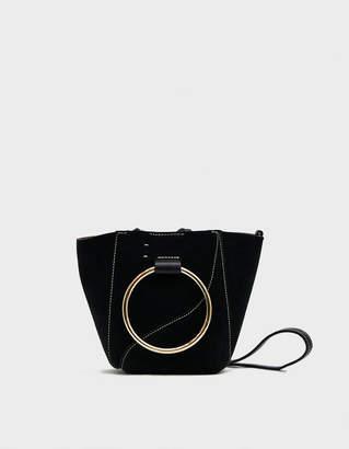 Atelier Atp Chieti Suede Tote Bag in Black