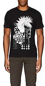 "Just Cavalli MEN'S ""PUNK HORSE"" COTTON T-SHIRT-BLACK SIZE S"