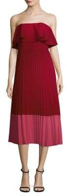 Aidan Mattox Color Block Pleated Dress
