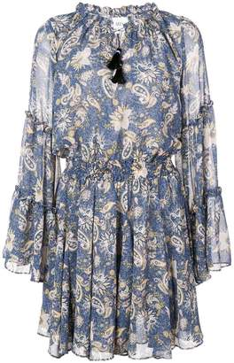 MISA Los Angeles short paisley print dress