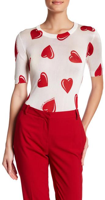 Love MoschinoLOVE Moschino Heart Pattern Short Sleeve Shirt