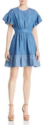 Kate Spade Chambray Ruffle Dress