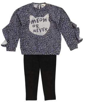 Jessica Simpson Little Girl's Two-Piece Printed Top Leggings Set
