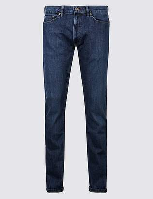 Marks and Spencer Slim Fit Selvedge Jeans with StormwearTM