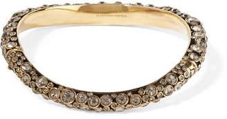 Alexander McQueen Gold-plated Crystal Choker - S