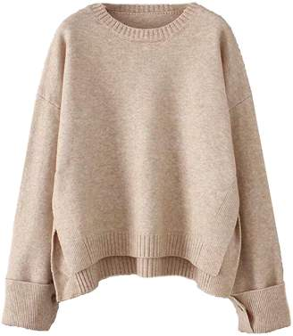 Goodnight Macaroon 'Jenner' Buttoned Cuff Oversized Sweater (4 Colors)