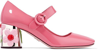 Prada - Embellished Patent-leather Pumps - Pink $990 thestylecure.com