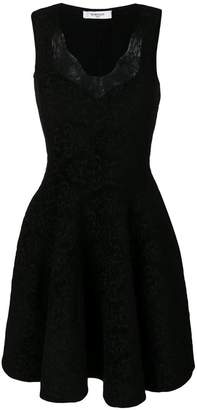 Givenchy lace trim flared dress