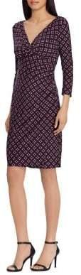 Lauren Ralph Lauren Print Surplice Jersey Dress